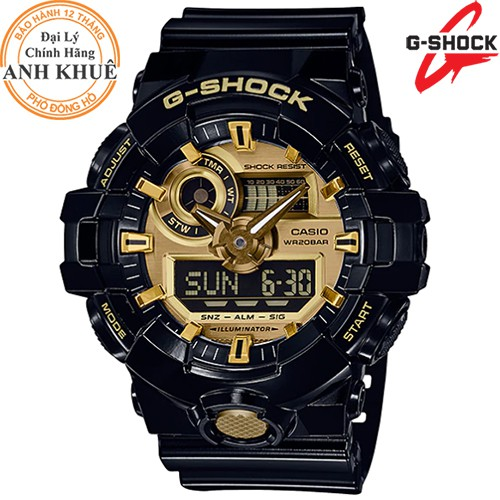 [Mã FARSBR153 giảm 15% đơn 150K] Đồng hồ nam G-SHOCK chính hãng Casio Anh Khuê GA-710GB-1ADR