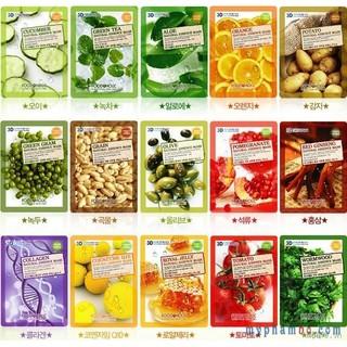 Mặt nạ 3D Foodaholic Collagen, Cà chua, Dưa leo, Trà xanh, Lô hội,Bamboo... thumbnail