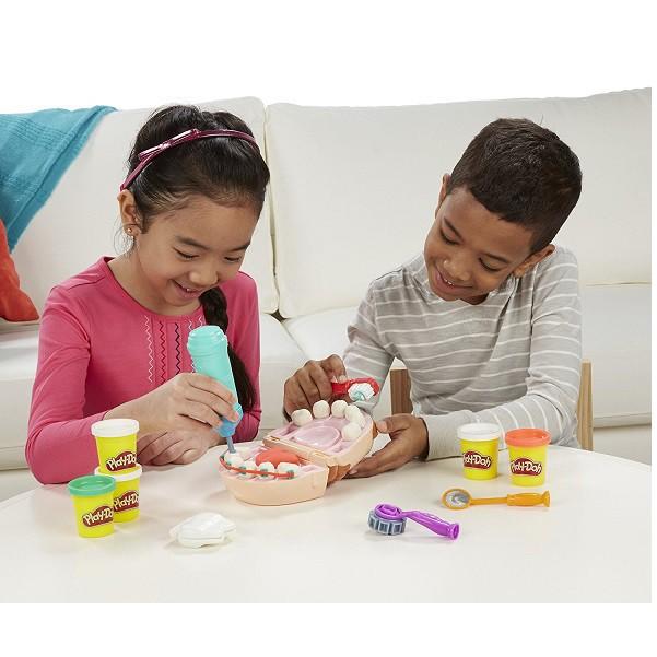 Bác sỹ khám răng vui vẻ Play Doh (tua vít xoay được)