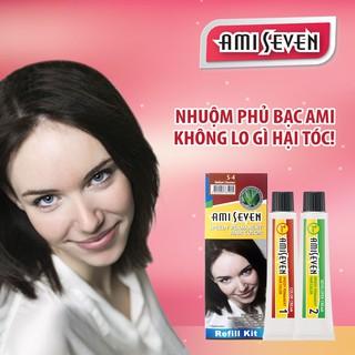 Nhuộm phủ bạc dược thảo Amiseven nhanh 7 phút AMI SEVEN (Loại tiết kiệm) S4 (60g + 60g) Hàn Quốc thumbnail