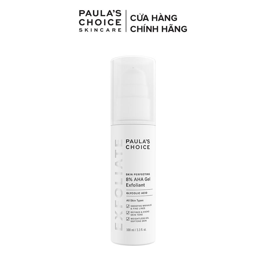 Gel loại bỏ tế bào chết làm mềm và sáng mịn da Paula's Choice Skin Perpecting 8% AHA Gel Exfoliant - 100ml Mã 1900