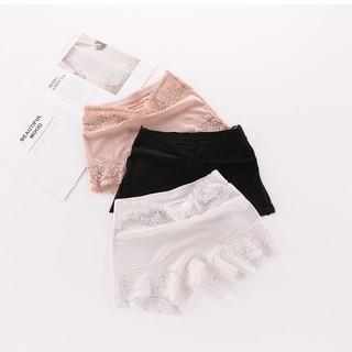 NoQuần tất mỏng chống đứt chỉ dành cho phụ nữ mới, quần an toàn cotton, quần sịp boxer hai trong một để mặc bên ngoài thumbnail