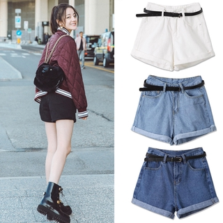 COD Denim shorts Korean women's clothing rolled up high waist shorts jeans women pants