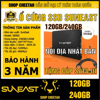 Ổ cứng SSD SunEast 240/120GB nội địa Nhật Bản – CHÍNH HÃNG – Bảo hành 3 năm – SSD 240/120GB – Tặng cáp dữ liệu Sata 3.0