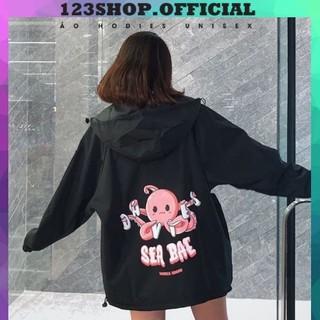 Áo khoác dù Chống Nắng cho nam nữ và cặp đôi In Hình Sea Bea, Jacket ulzzang 2 màu unisex Ảnh thật 123 SHOP