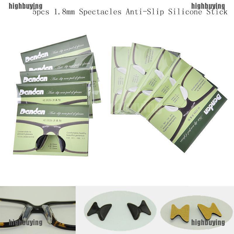Gói năm miếng dán chống trượt đệm mũi cho các loại kính đầy tiện lợi