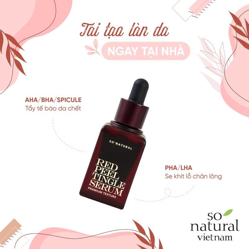 Thay da sinh học Và Tẩy Tế Bào Chết Red Peel Tingle Serum Tinh Chất  Tái Tạo Làn Da So Natural Nhập Khẩu  Hàn Quốc(Premium 20 ml)