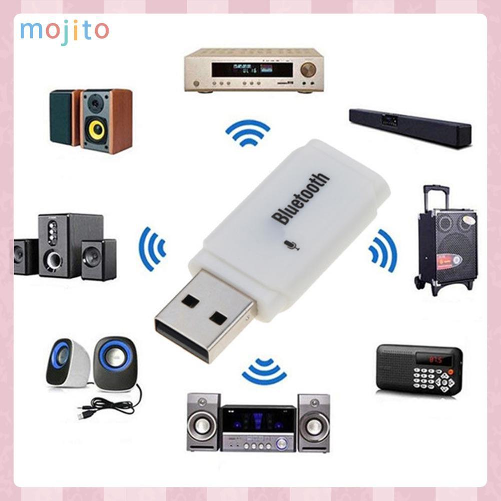 Usb Thu Tín Hiệu Âm Thanh Bluetooth 5.0 Mojito Có Mic Cho Xe Hơi