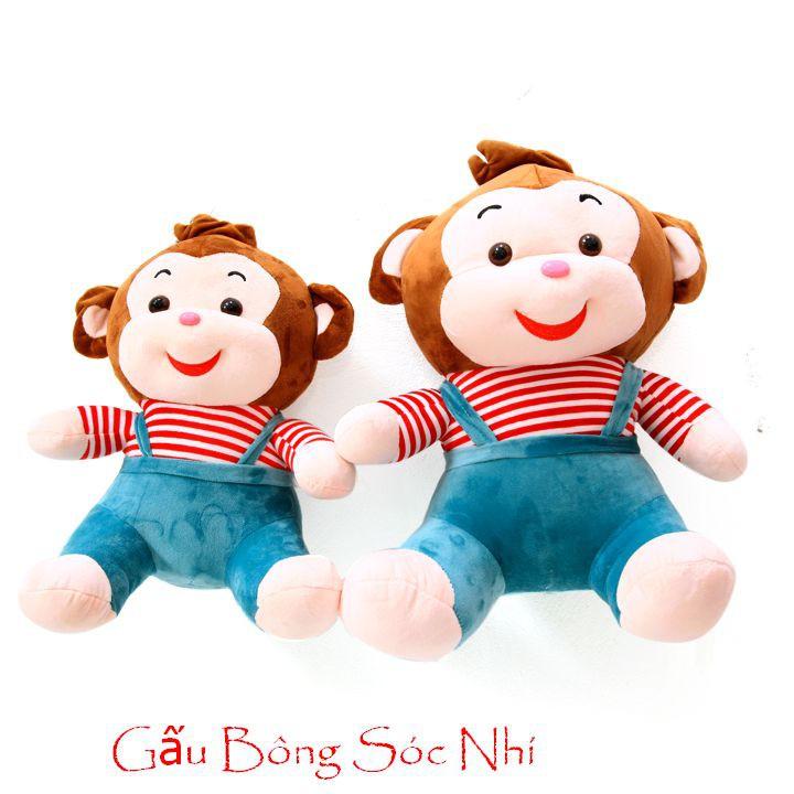 Gấu bông khỉ cười đáng yêu cỡ nhỏ 40cm
