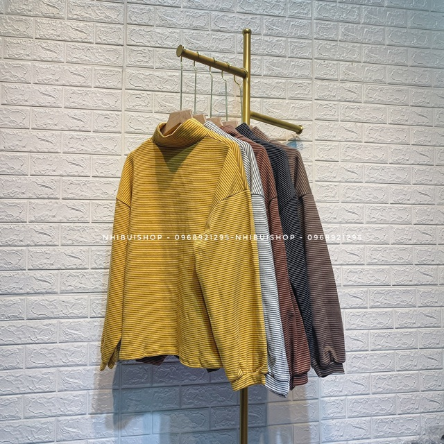 Áo kẻ tay bồng kẻ hót( 5 màu)