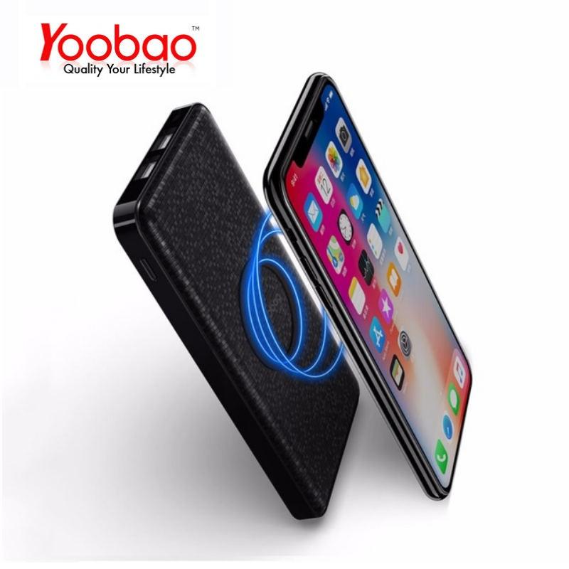 [Freeship toàn quốc từ 50k] Sạc dự phòng không dây YOOBAO W5 5000mAh cho iPhone X 8 Samsung S6 S7 S8 Qi phone chính hãng