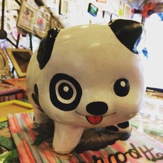 Heo đất vẽ 3D HandMade- chú chó đốm