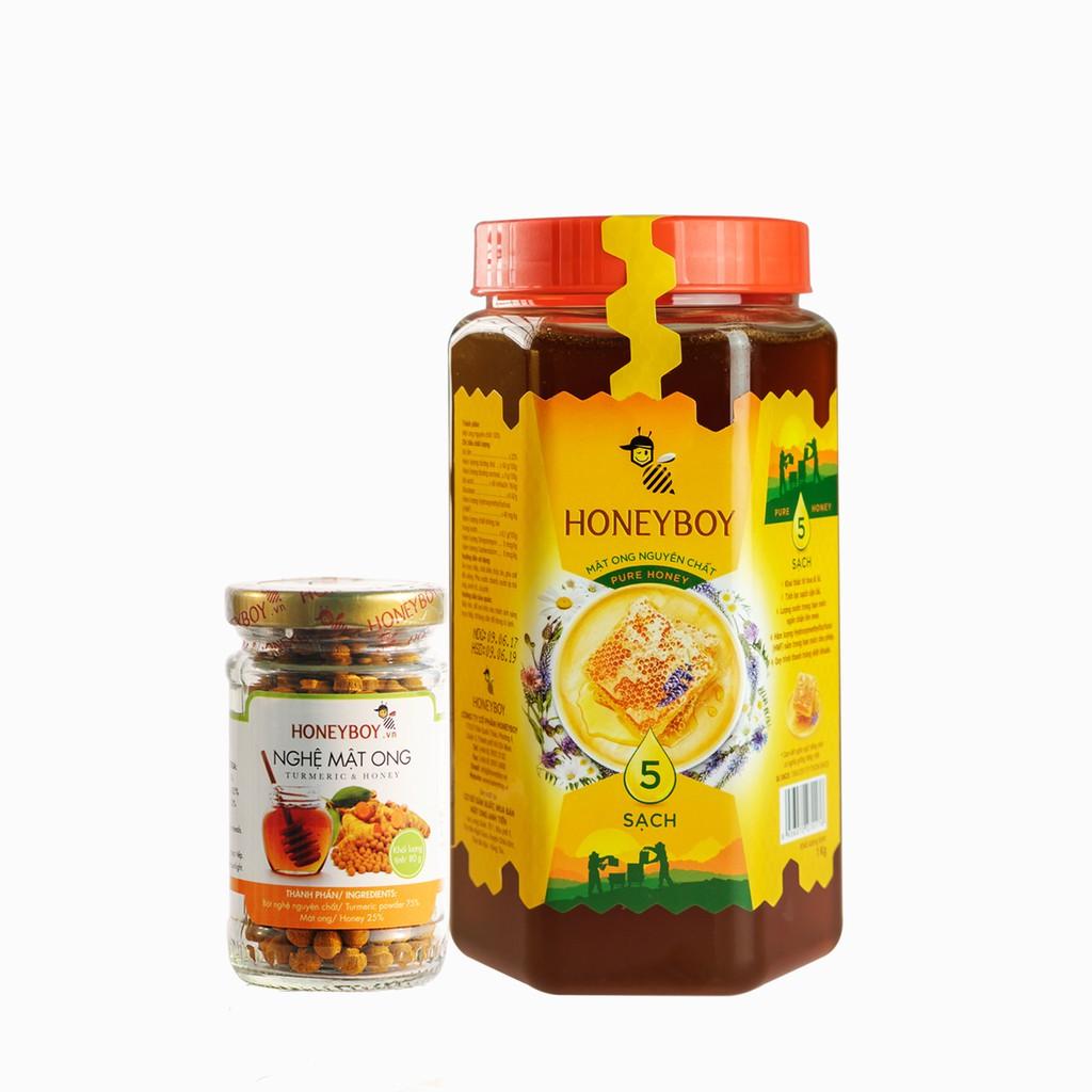 Combo Mật Ong Thiên Nhiên 5 Sạch Honeyboy 1kg và Nghệ Mật Ong Honeyboy 80g - 3155359 , 274770952 , 322_274770952 , 218900 , Combo-Mat-Ong-Thien-Nhien-5-Sach-Honeyboy-1kg-va-Nghe-Mat-Ong-Honeyboy-80g-322_274770952 , shopee.vn , Combo Mật Ong Thiên Nhiên 5 Sạch Honeyboy 1kg và Nghệ Mật Ong Honeyboy 80g