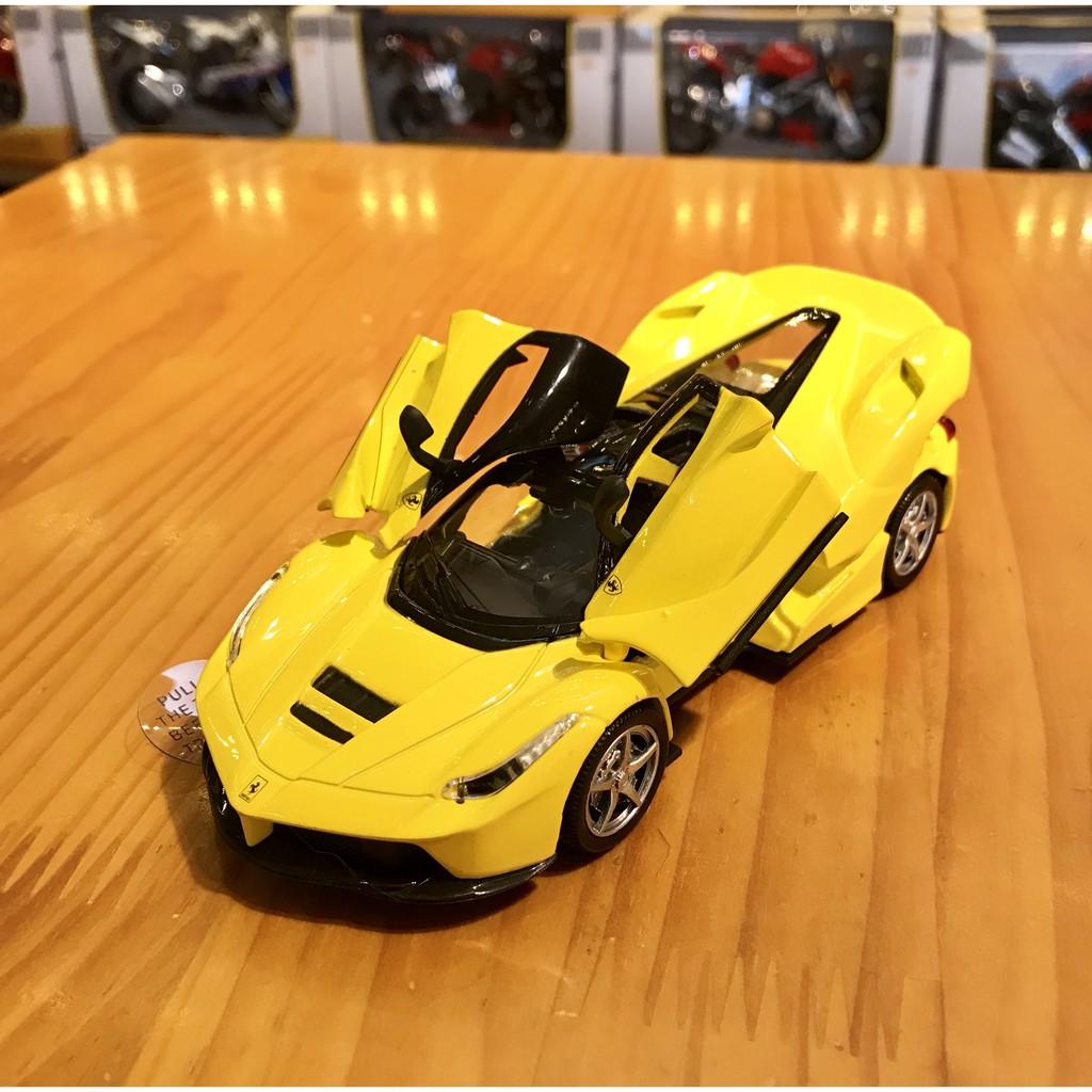 Mô hình siêu xe Ferrari Rafael Double Horses tỉ lệ 1:32 màu vàng