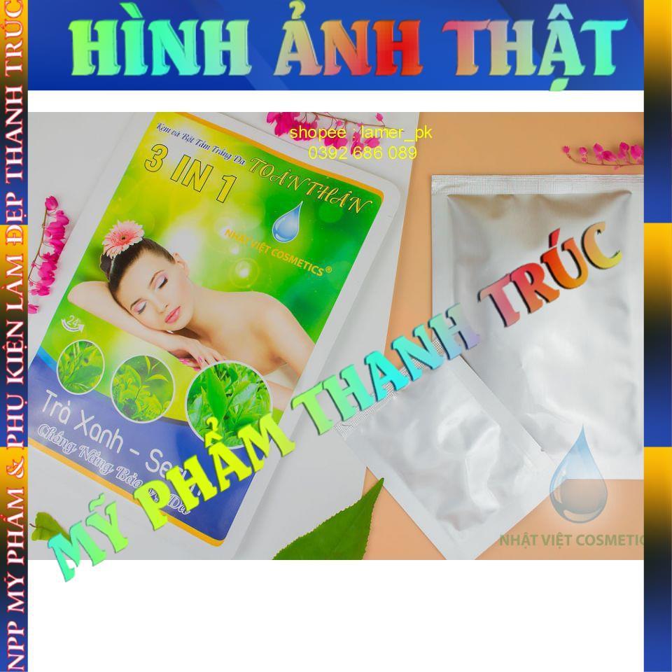 Kem và bột tắm trắng da toàn thân Trà Xanh - Serum NHẬT VIỆT COSMETICS