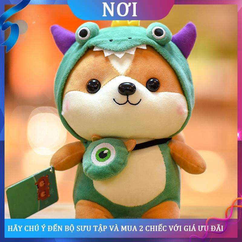 ✔∈búp bê sóc nhỏ dễ thương biến hình Đồ chơi sang trọng khủng long cho trẻ em tặng quà ngày bé gái vải