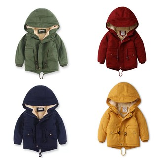 Áo khoác lót lông xuất khẩu bé trai 3-10 tuổi
