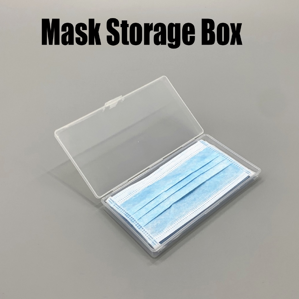 Plastic Portable Transparent Face Mask Container Dustproof Mouth Cover Storage Box Mask Case Holde