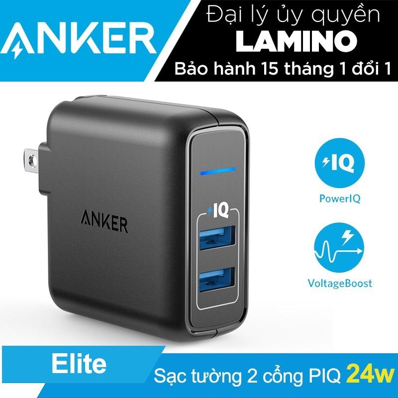 Sạc ANKER PowerPort Elite 2 cổng 24w có PowerIQ - 3607665 , 1080606654 , 322_1080606654 , 440000 , Sac-ANKER-PowerPort-Elite-2-cong-24w-co-PowerIQ-322_1080606654 , shopee.vn , Sạc ANKER PowerPort Elite 2 cổng 24w có PowerIQ