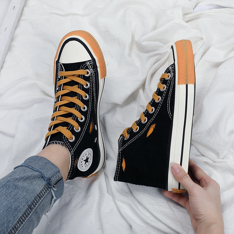 New High-top Canvas Shoes Women's Flats