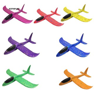 SMYR_Outdoor Manual Sport Airplane Aircraft Toy Throwing Hand Glider Model Kids Gift