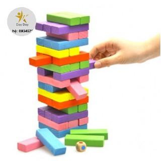 [SALE SIÊU HOT] [Nhập mã TOYAUG hoàn 10% tối đa 15K xu cho đơn từ 99K]Bộ đồ chơi rút gỗ 48 thanh màu sắc
