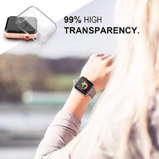 Ốp nhựa mềm trong suốt bảo vệ mặt đồng hồ Apple Watch Series 4 3 2 1 38MM 42MM 44MM 40MM thumbnail