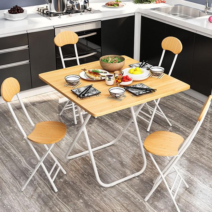 Bộ bàn ghế gấp gọn cao cấp thông minh - Bàn ăn gia đình