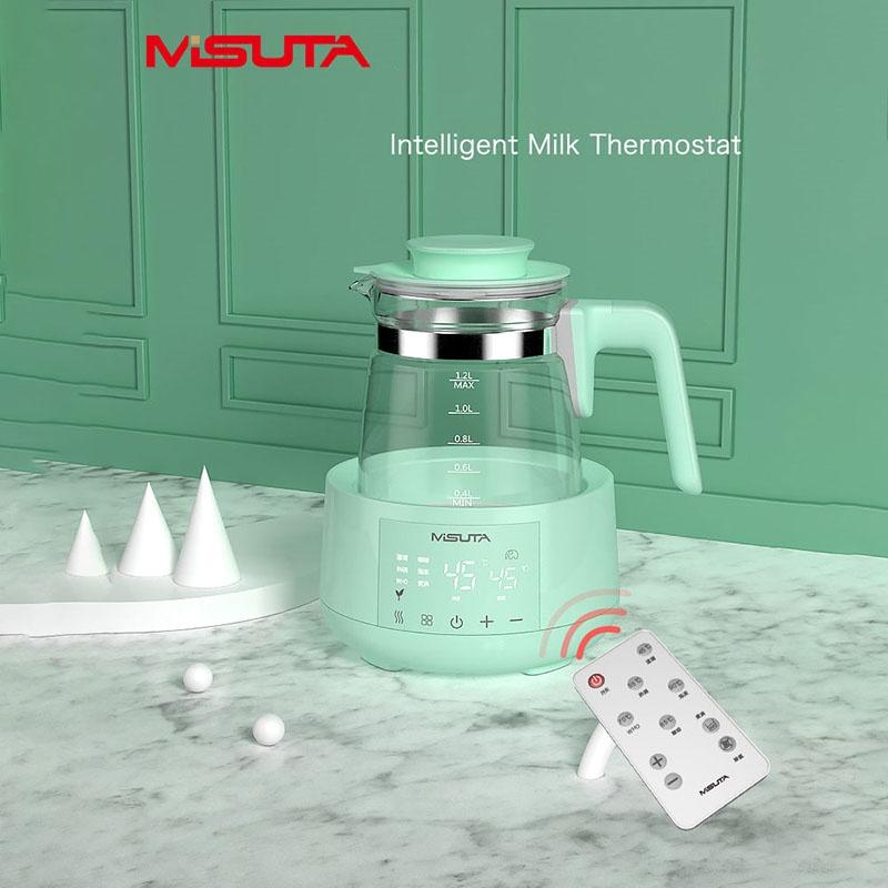 Máy đun hâm nước pha sữa thông minh giữ nhiệt điều khiển từ xa Misuta chính hãng
