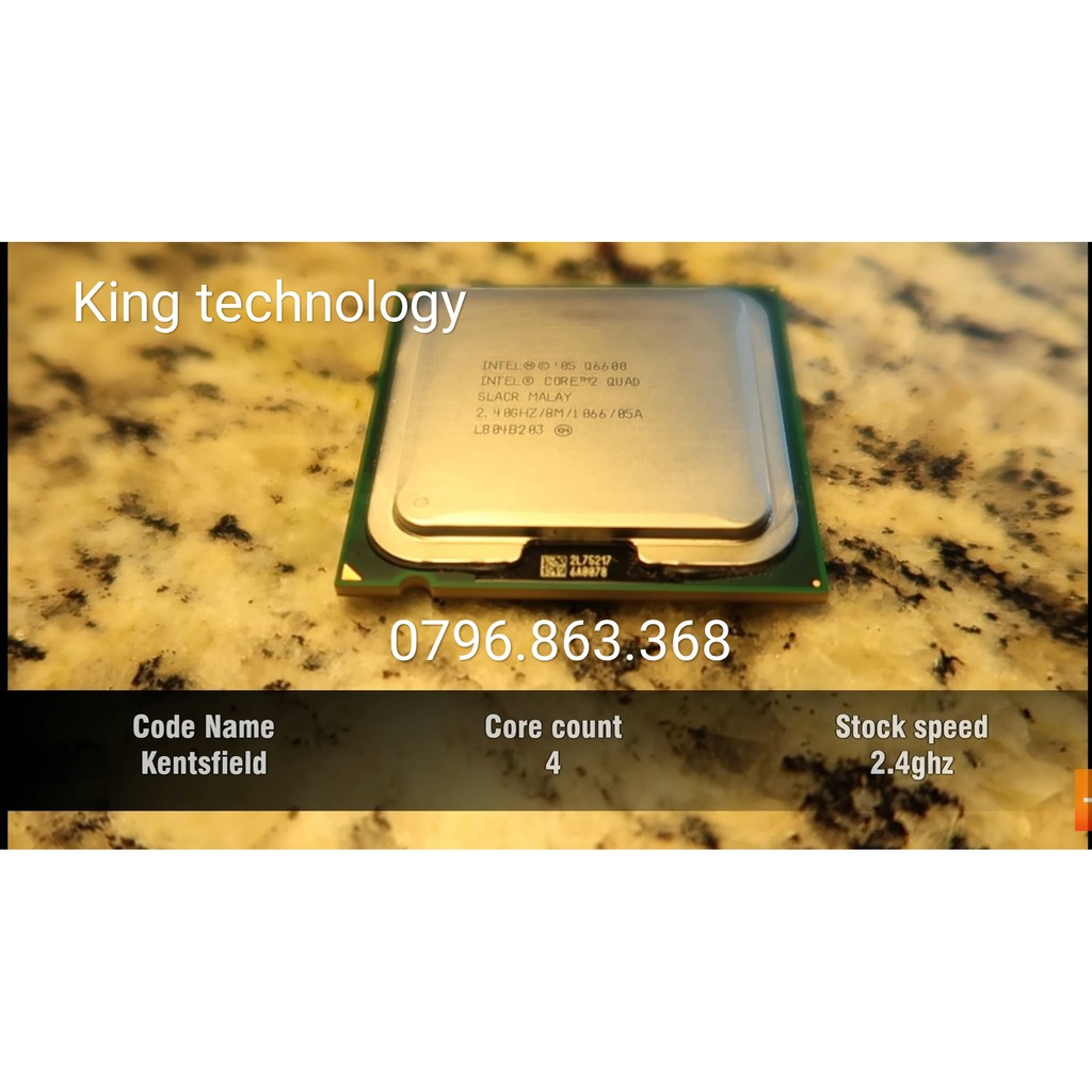 Intel Core 2 Quad Q6600 Quad-Core Processor, 2.40 GHz – Q6600 Giá chỉ 180.000₫
