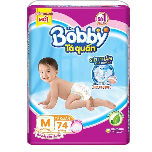 Tã Quần Bobby M74/L68/XL62/XXL56