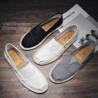 Slip on nam 2020 - Giày lười vải nam cao cấp - Vải thô 3 màu đen, xám và trắng ngà - Mã SP 2929 thumbnail