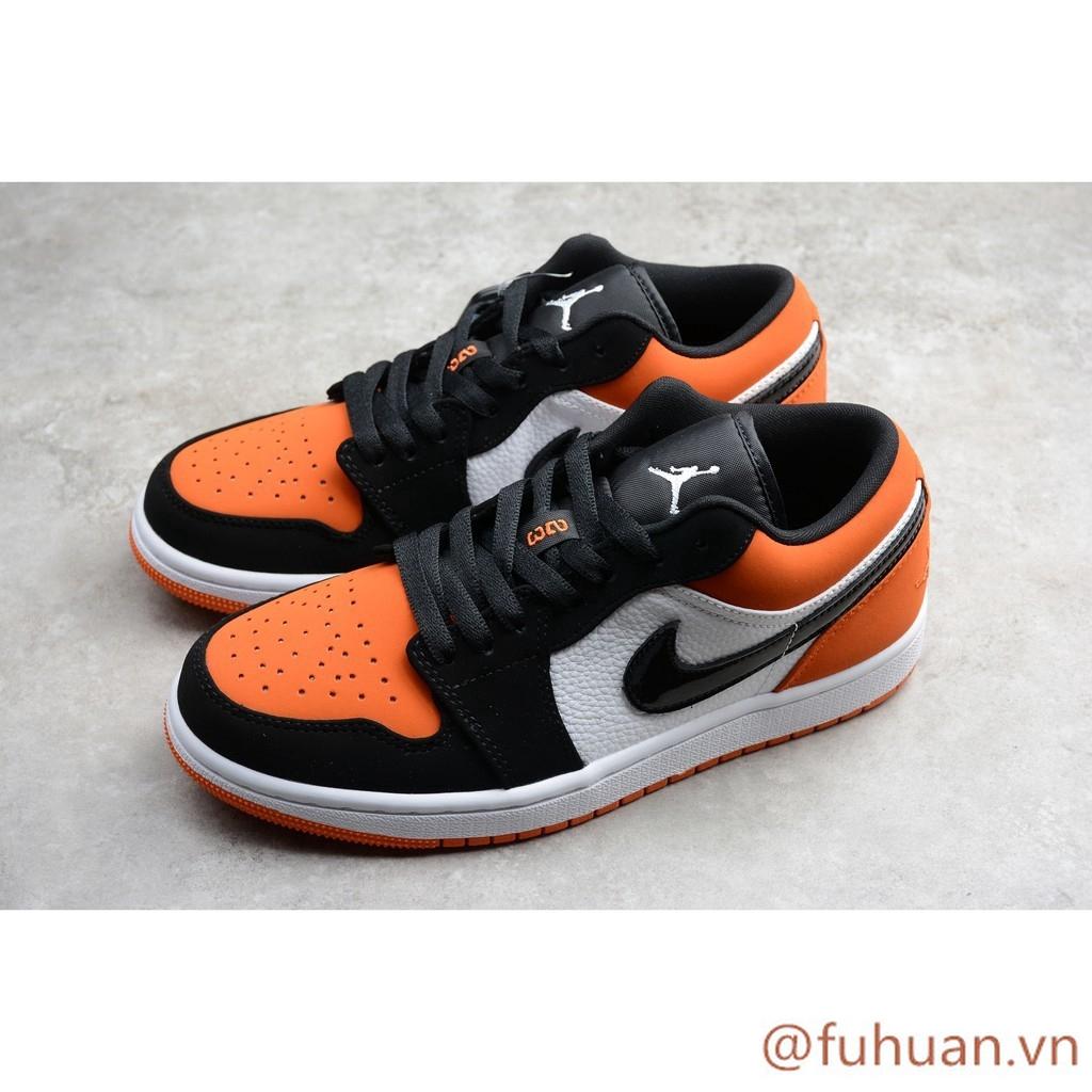 Superior Ridículo Interpretativo  fuhuan.vn* Giày Nike Jordan 1 AJ1 Low Black / White / Orange Giày nam và nữ  cỡ 40-46 bé trai | Shopee Việt Nam