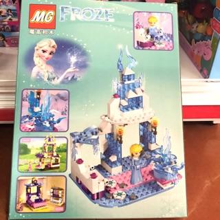 Hộp lego ráp lâu đài người tuyết Frozen 183 miếng