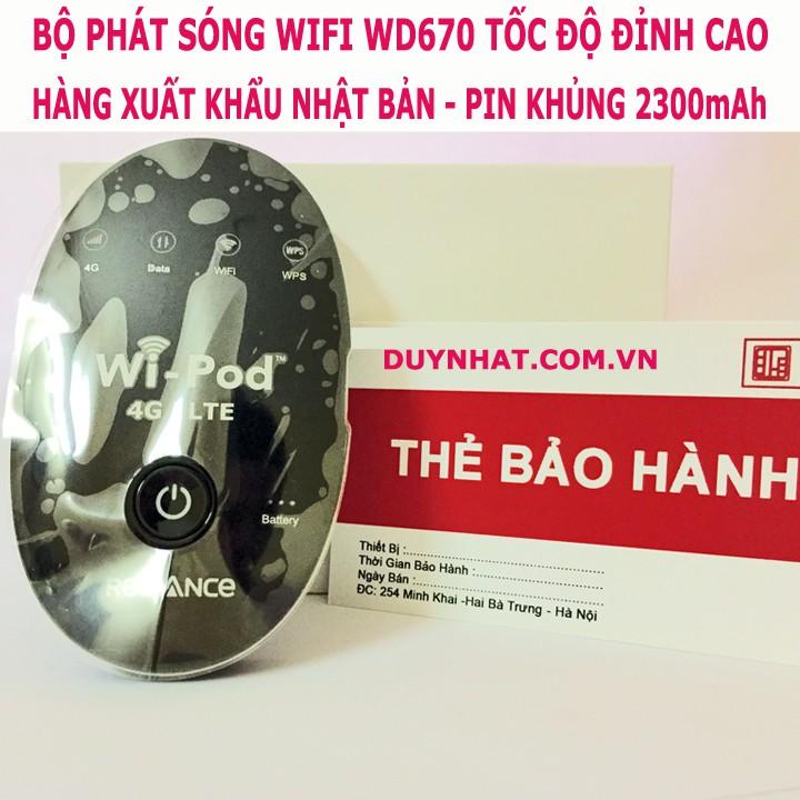 (Mã Giảm Giá) Bộ Phát Wifi Di Động Cầm Tay Wi-Pod 4G LTE, Phát Cùng Lúc 31 Máy
