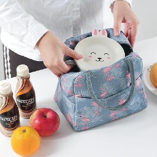 [Hàng Đẹp] Túi giữ nhiệt hồng hạc Túi đựng hộp cơm xinh xắn tiện dụng 21*11*20 cm