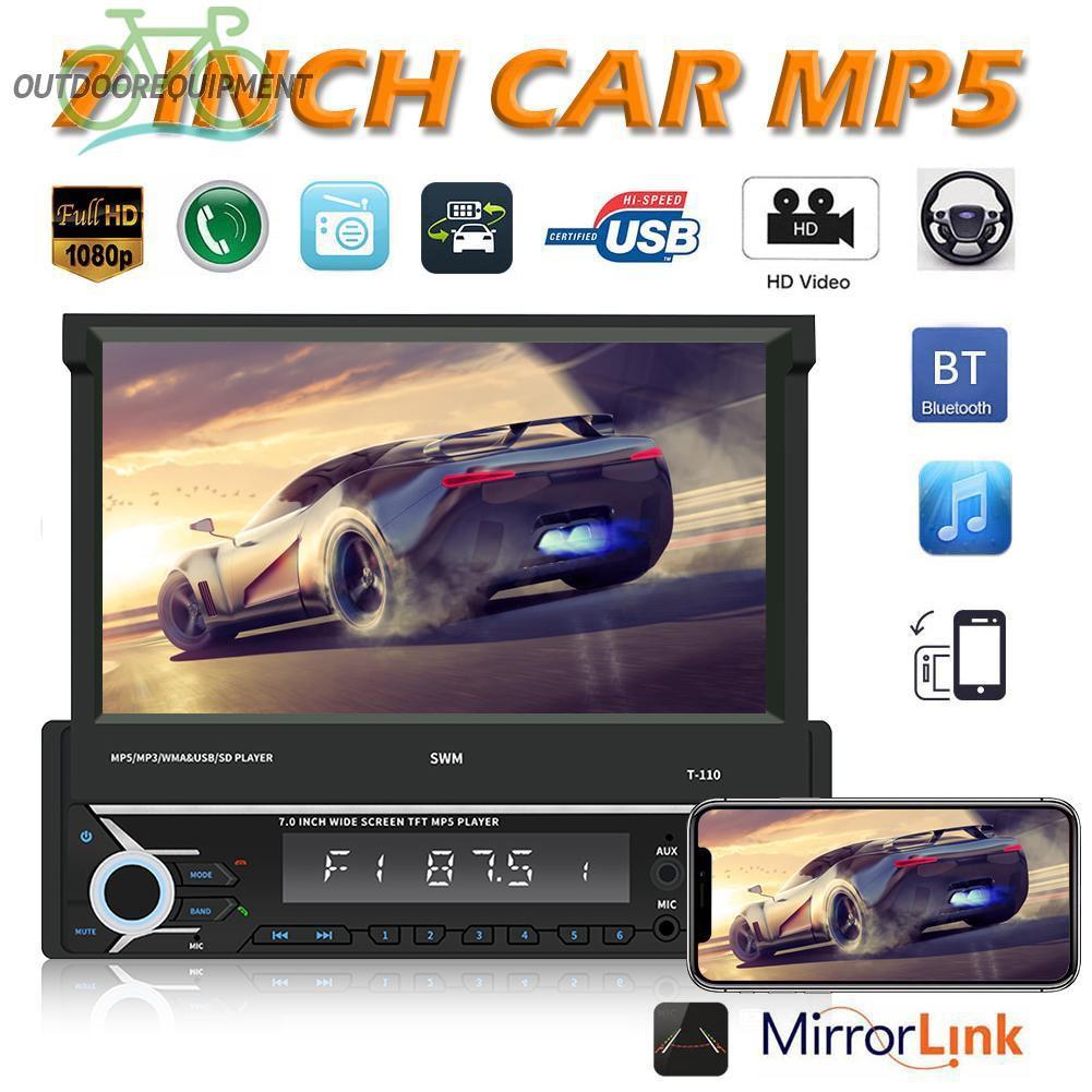 ♧SWM T-110 Car Bluetooth AUX USB Radio MP5 Player with 7 inch Foldable Screen♧