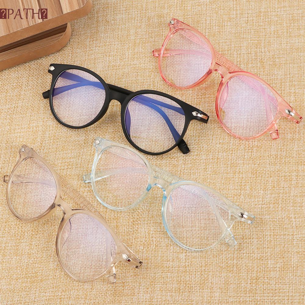 PATH Women Men Optical Eyewear Flexible Portable Fashion Eyeglasses Computer Glasses Vision Care Ultralight PC Frame&Resin Lens Transparent Glasses Frame...