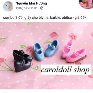 Set combo 3 giày cho blythe. Barbie. Xinyi. Obitsu