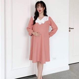 MEDYLA - Váy bầu thiết kế 1 lớp vitex chui đầu cho bầu đi làm, đi chơi - V353 thumbnail