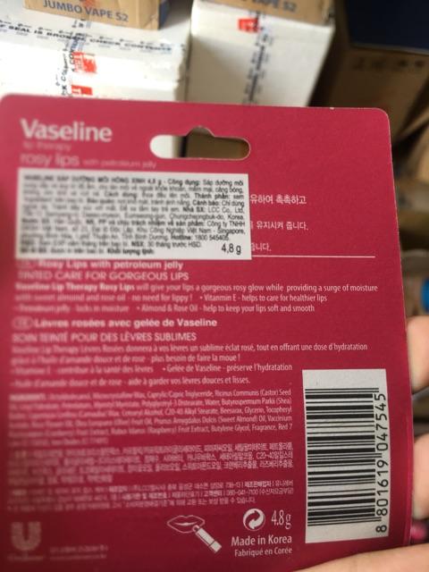 Dưỡng môi Vaseline đạng thỏi 4.8g ( USA) Chính hãng (hoá đơn đỏ đầy đủ)
