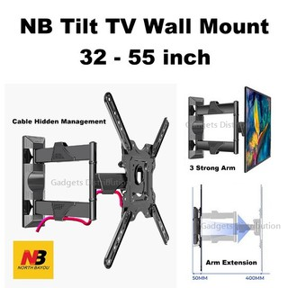 Giá Treo Tivi Góc Xoay Đa Năng NB-P4 32 – 55 Inch Thiết Kế Mới