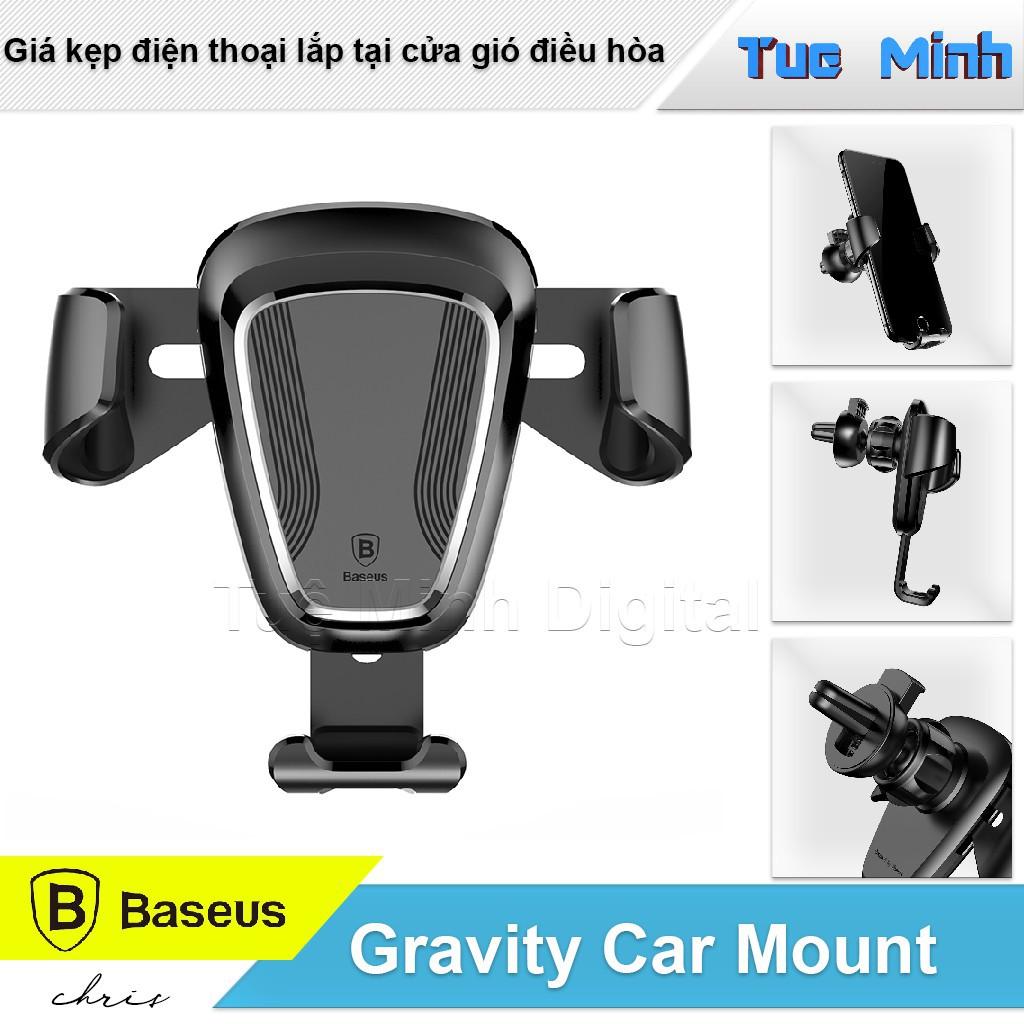Giá đỡ điện thoại trên ôtô Baseus Gravity Chính Hãng - Kẹp Điều Hòa
