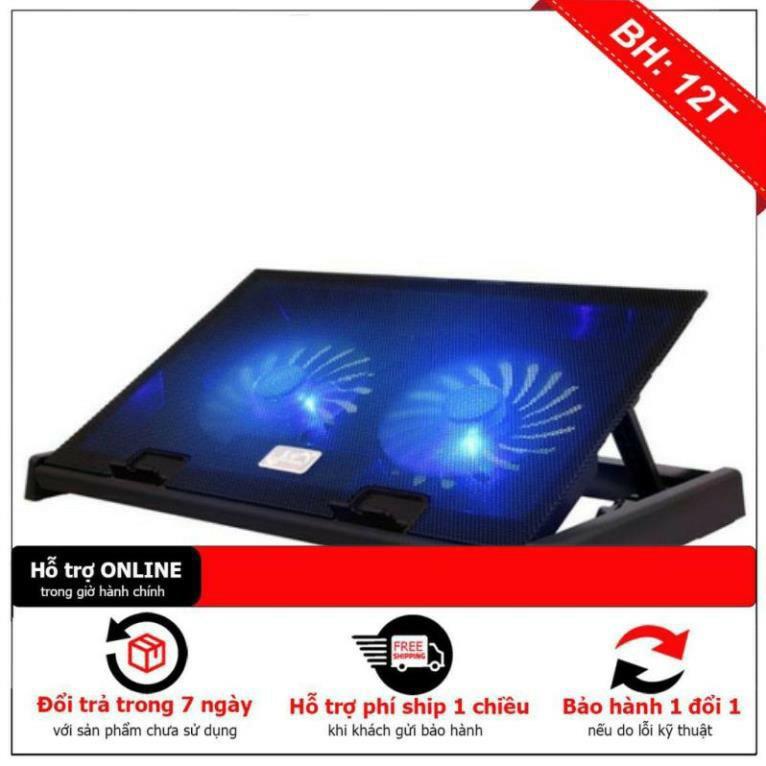 [Chính Hãng] Đế giá đỡ quạt tản hút nhiệt N99 laptop máy tính bền tốt - 2 quạt tản nhiệt to chạy êm làm mát cực nhanh