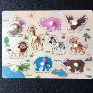 Combo 5 bảng gỗ ghép tranh các mẫu mã có núm loại to dày đẹp giá rẻ nhất cho các bé