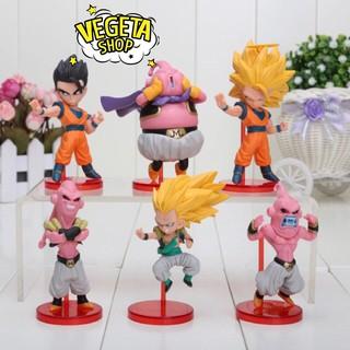 Mô hình (Figure) 6 nhân vật Dragon ball WCF – Majin Buu (Ma bư) (cao 11cm) (Full box) – Bán lẻ đồng giá 40k