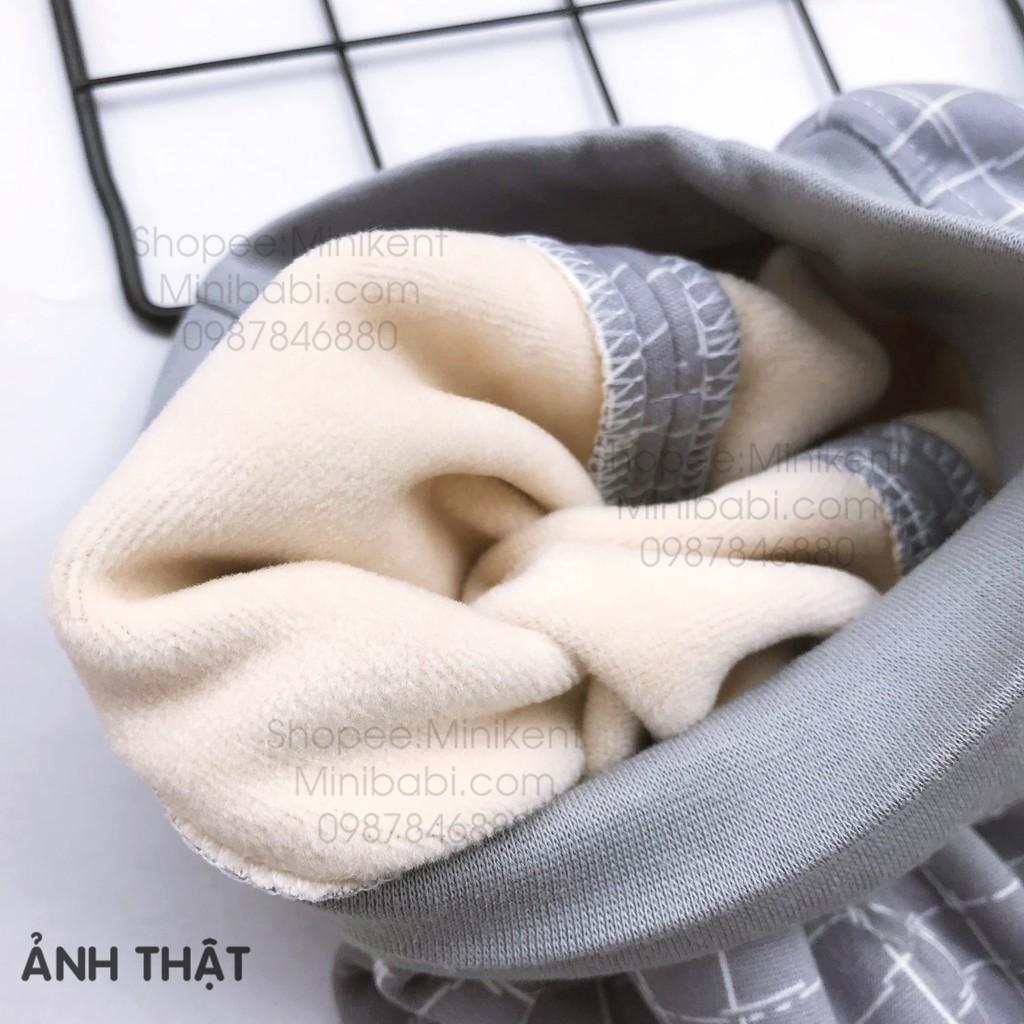 Quần nỉ lót lông cạp cao ấm cho bé