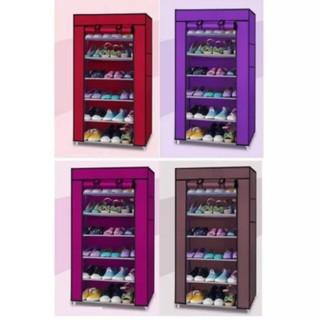 Tủ vải để giày dép 7 tầng 6 ngăn -Kệ, tủ để giày dép thông minh 7 tầng 6 ngăn bọc vải cao cấp siêu tiện dụng, kệ giày
