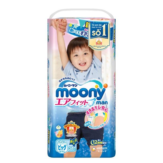 Tã Quần Moony Bé Trai XL (38 Miếng)