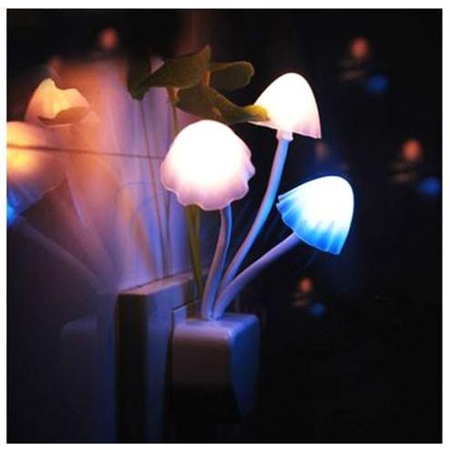 Bộ 3 đèn led hình cây nấm, cảm biến ánh sáng, đèn trang trí đẹp, Giá Siêu Khủng